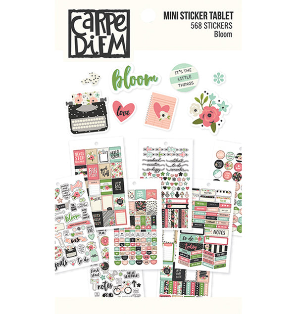 Carpe Diem Bloom Mini Planner Sticker Sheets