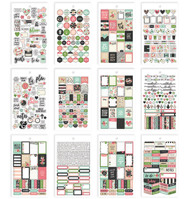 Bloom Mini Planner Sticker Sheets