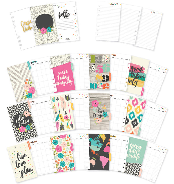 Carpe Diem Good Vibes Personal Planner Monthly Inserts