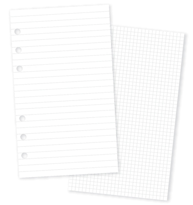 Carpe Diem Personal Planner Basic Inserts Lined & Grid