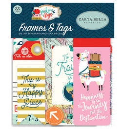 Carta Bella Pack Your Bags Frames & Tags 33pcs