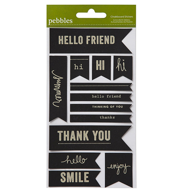 Lakeside Phrases Chalkboard Stickers