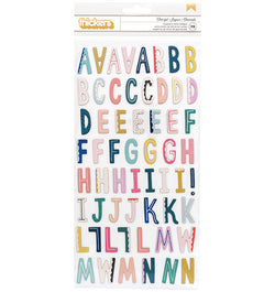 American Crafts Cheerful Chipboard Thickers Stickers Front