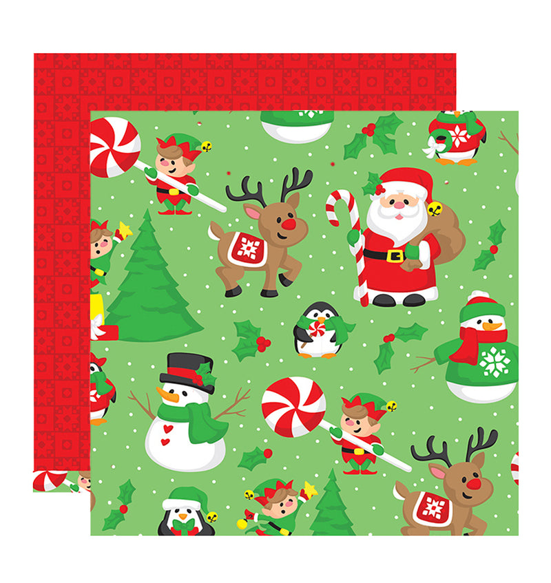 Snowmen & Santa 12 X 12 Double Sided Paper