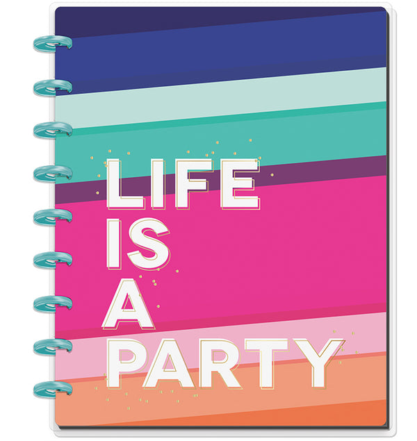 Life Is A Party Classic Happy Notes™ (Lined) Cover