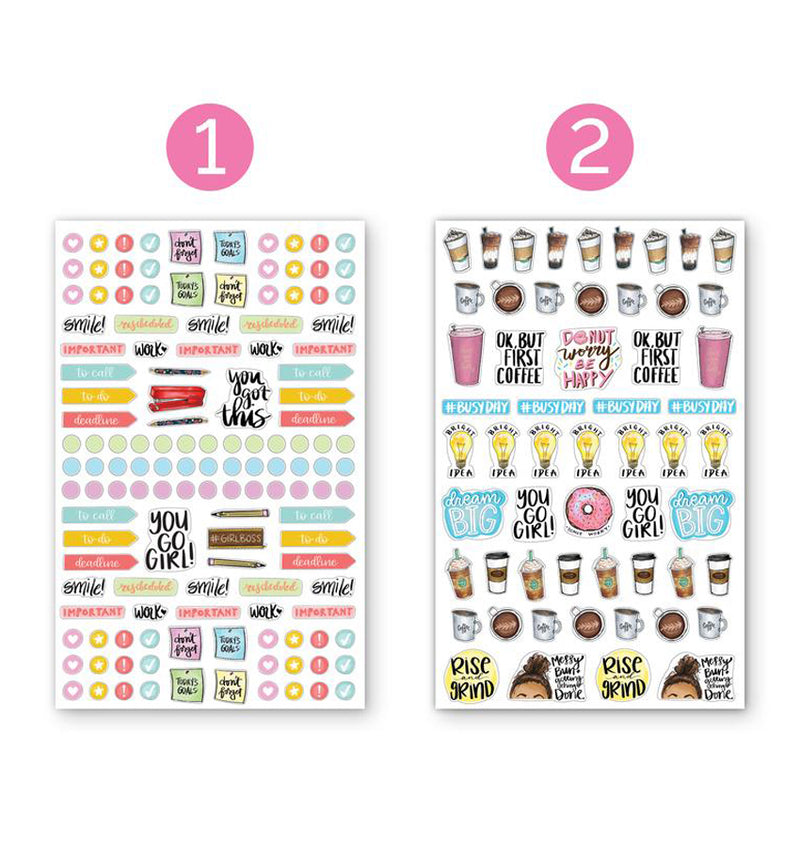 Bloom's Classic Planner Sticker Sheets Pack 6pcs, 1st and 2nd designs