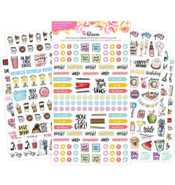 Bloom's Classic Planner Sticker Sheets Pack 6pcs