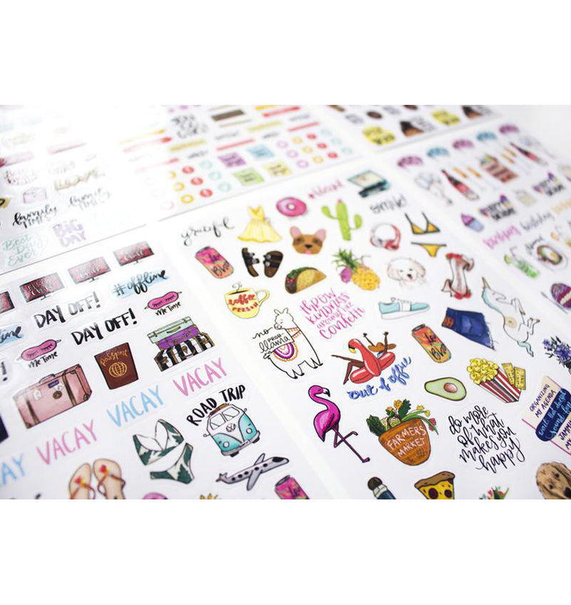 Bloom's Classic Planner Sticker Sheets Pack 6pcs close up