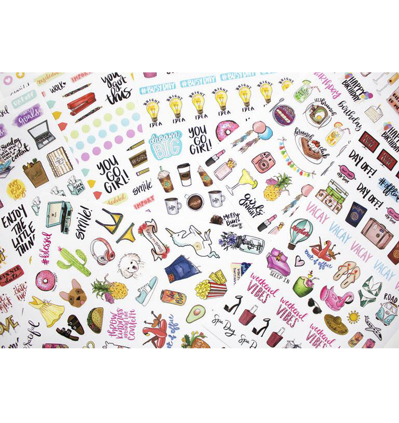 Bloom's Classic Planner Sticker Sheets Pack 6pcs close up 2