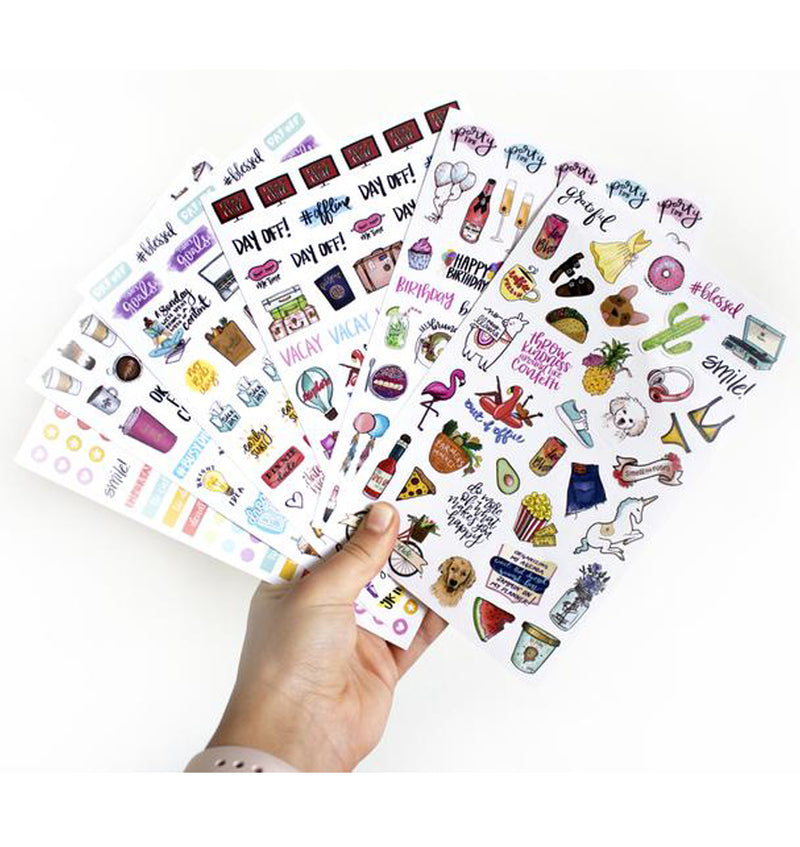 Holding a Bloom's Classic Planner Sticker Sheets Pack 6pcs