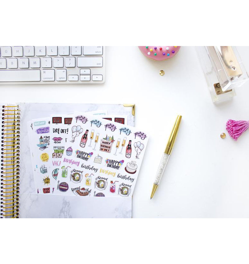 Bloom's Classic Planner Sticker Sheets Pack 6pcs in a planner