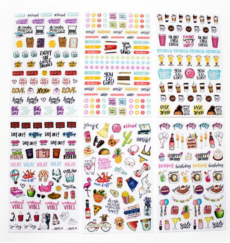 Bloom's Classic Planner Sticker Sheets Pack 6pcs designs