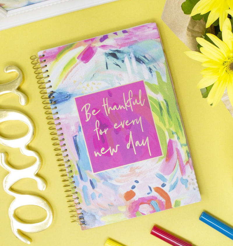 Be Thankful For Every New Day 2019-2020 Bloom Soft Cover Daily Planner Cover Design