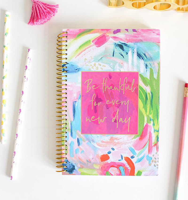 Be Thankful For Every New Day 2019-2020 Bloom Soft Cover Daily Planner Cover