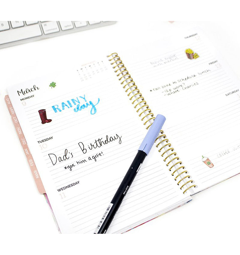 Be Thankful For Every New Day 2019-2020 Bloom Soft Cover Daily Planner Weekly View