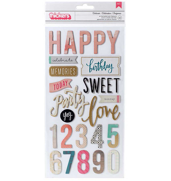 Confetti Foil Phrases Thickers
