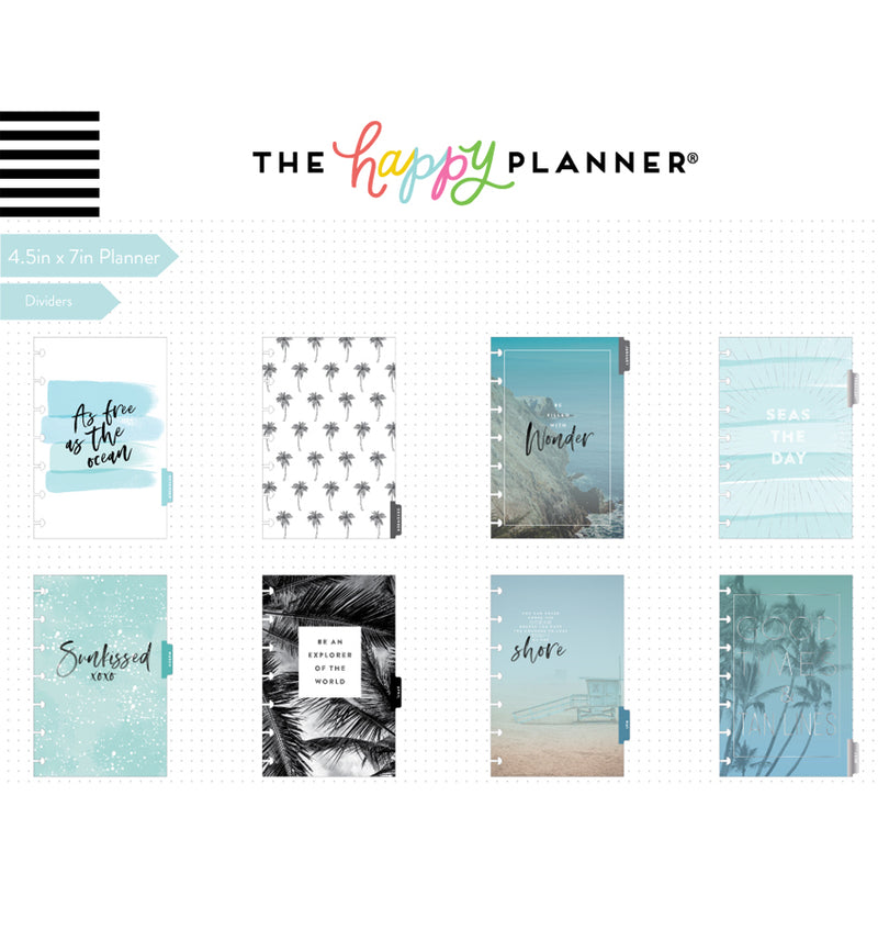 Coastal Vibes 2019 - 2020 Mini Happy Planner (12 Months) Dividers