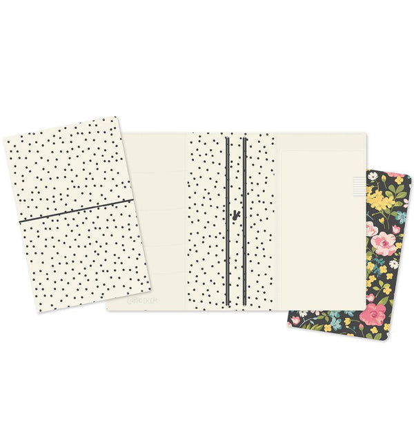 Cream Dot Traveller's Notebook