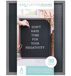 DCWV 16 x 20 Grey and Black Letter Board (188pcs)