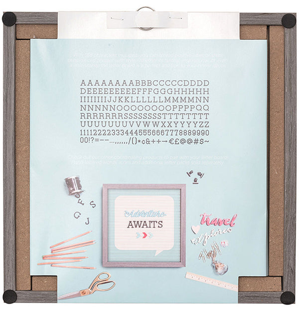 "DCMV 12"" x 12"" Word Bubble Letter Board Back"