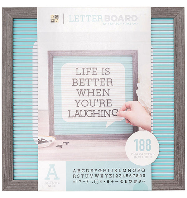 "DCMV 12"" x 12"" Word Bubble Letter Board Front"