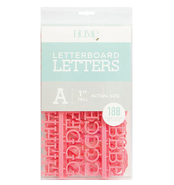"DCWV Letter Board Characters Pack 1"" Coral"