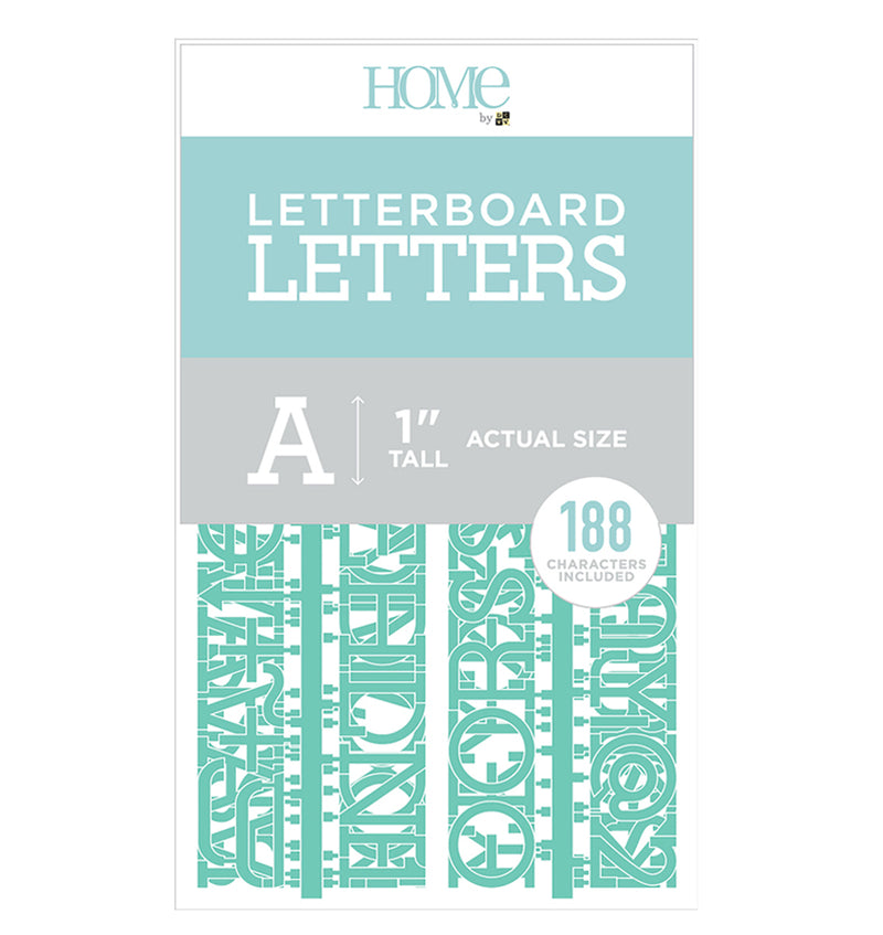 "DCWV Letter board Characters Pack 1"" Teal"