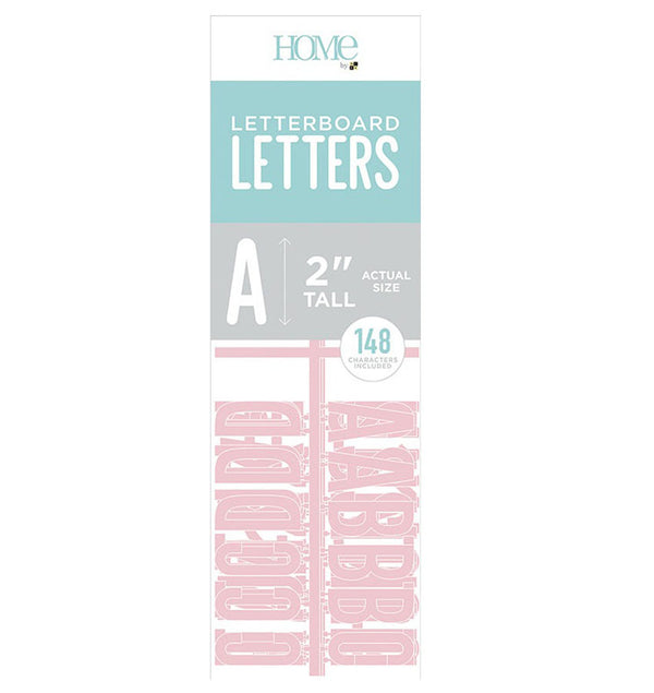 "DCWV Letter Board Characters 2"" Pink"