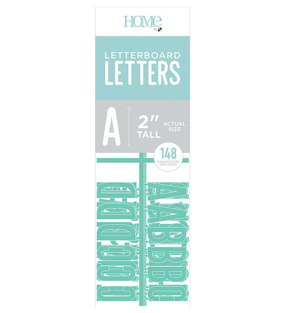 "DCWV Letter Board Characters 2"" Teal"