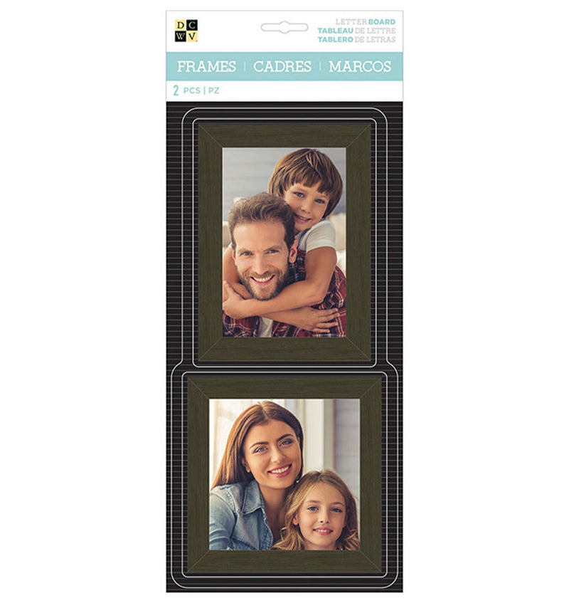 DCWV Letterboard Wooden Photo Frame 2pcs