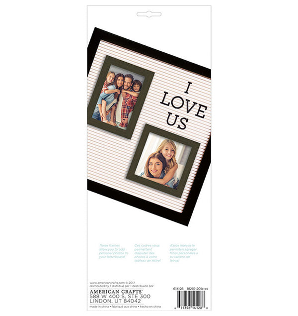 DCWV Letterboard Wooden Photo Frame Back