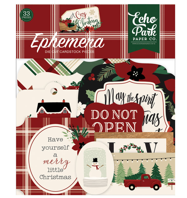 A Cozy Christmas Ephemera 33pcs