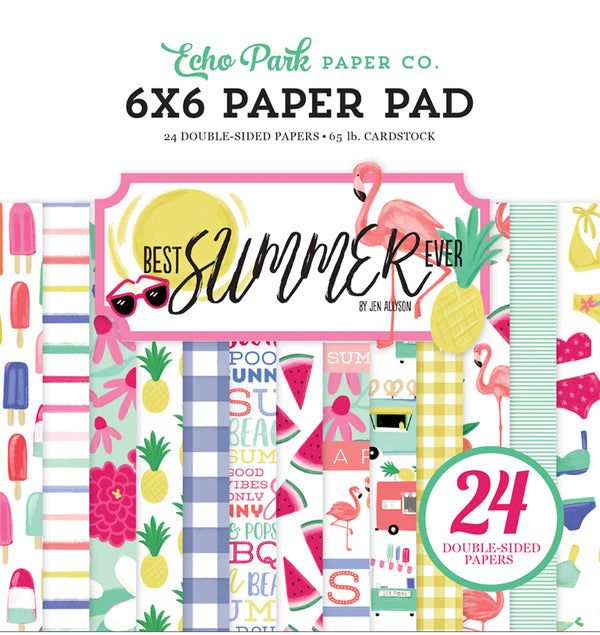 Echo Park Best Summer Ever 6 x 6 Paper Pad