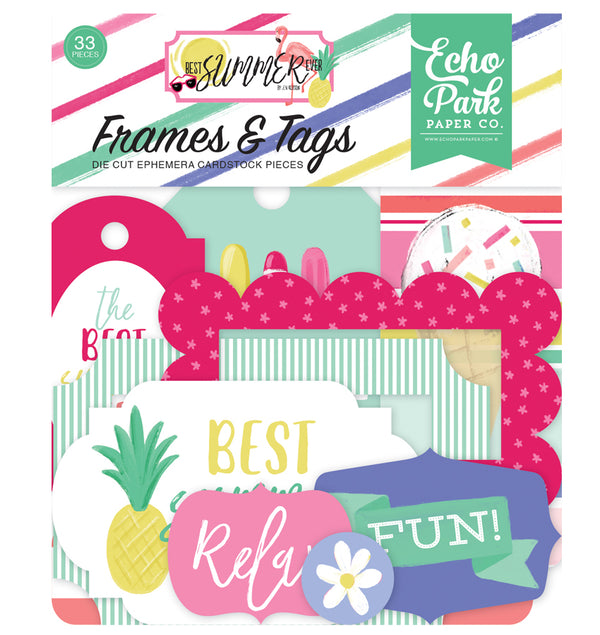 Echo Park Best Summer Frames & Tags 33pcs