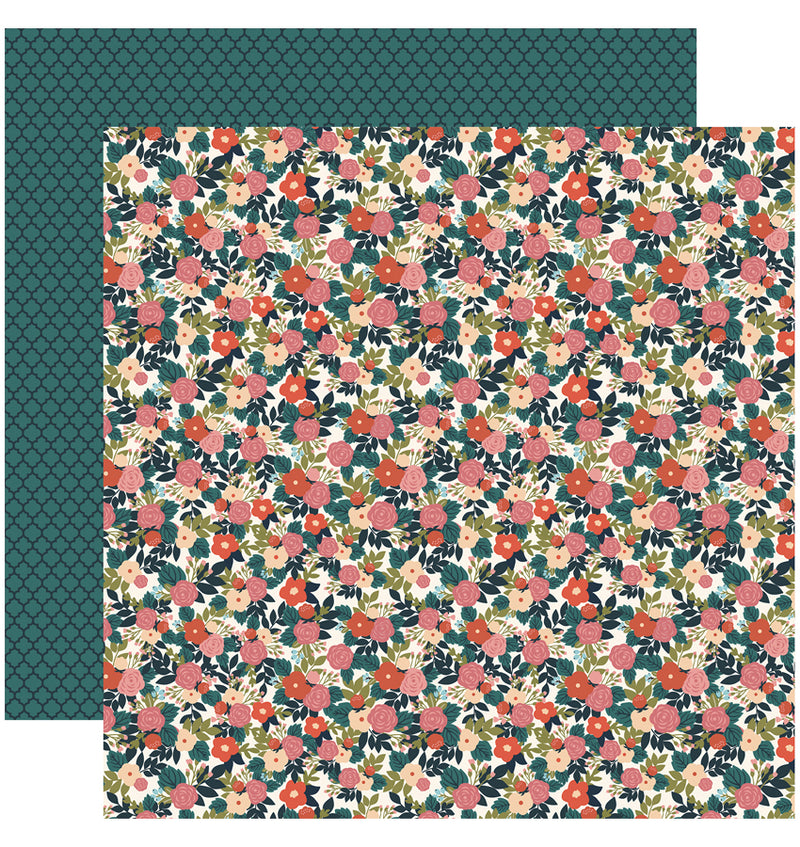 Echo Park Paper Coffee Collection Kit, Coffee Floral 12x12 Paper