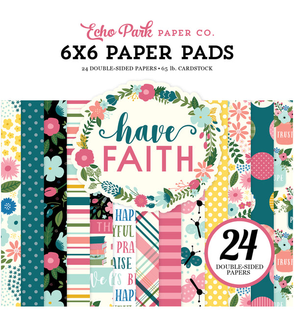 "Echo Park Paper Have Faith 6"" x 6"" Paper Pad Cover"