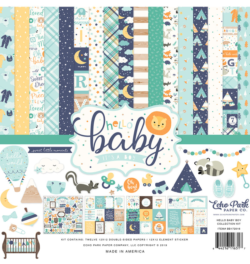 Echo Park Hello Baby Boy Collection Kit