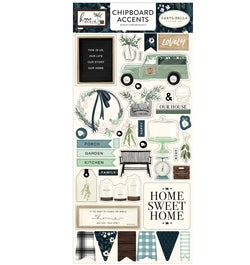 Home Again Chipboard Accents Stickers