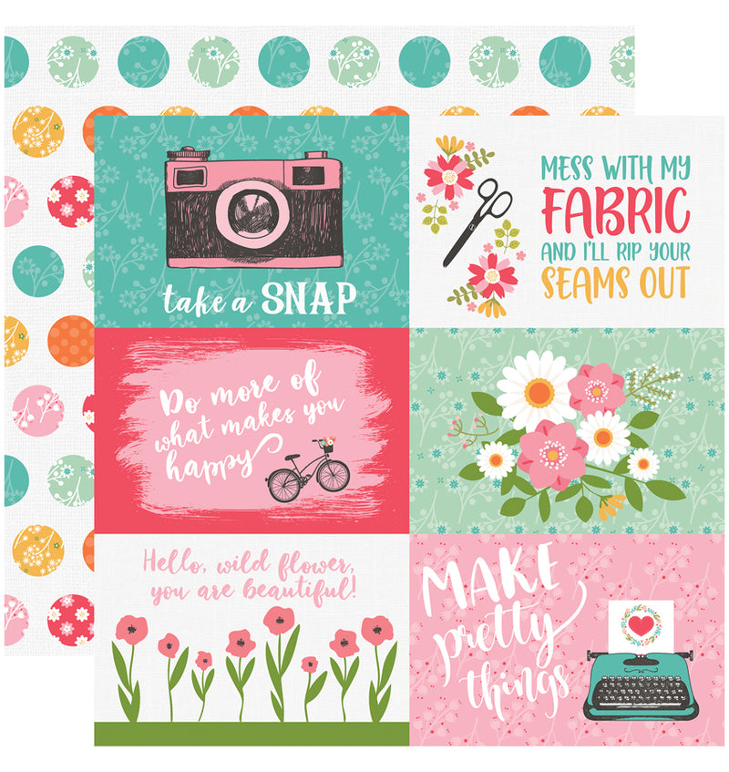 Echo Park I Heart Crafting Collection Kit, 4x6 Journaling Cards Design