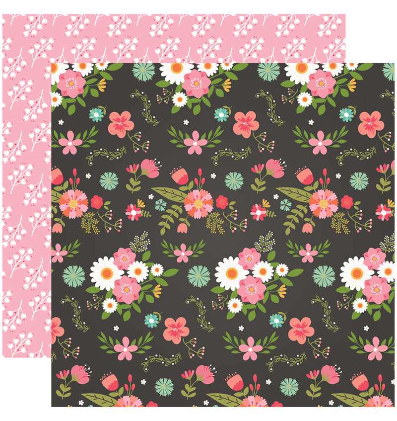 Echo Park I Heart Crafting Collection Kit, Fancy Floral Paper Design