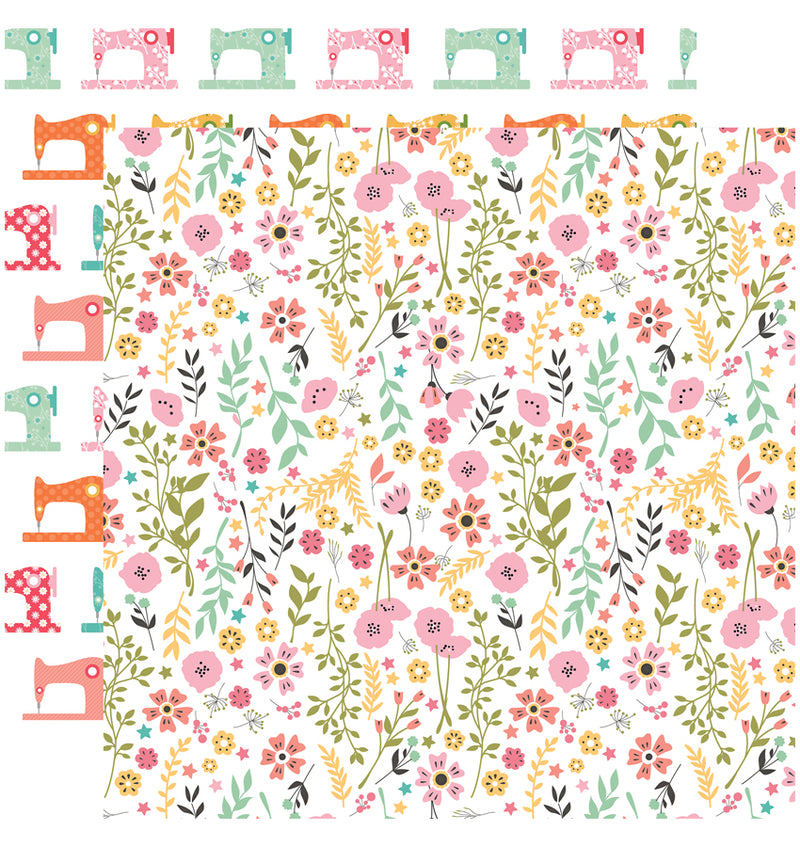 Echo Park I Heart Crafting Collection Kit, Pretty Flowers Paper Design