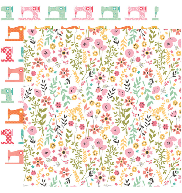 Echo Park Paper I Heart Crafting 6 x 6 Paper Pad - Pretty Flowers Paper Design