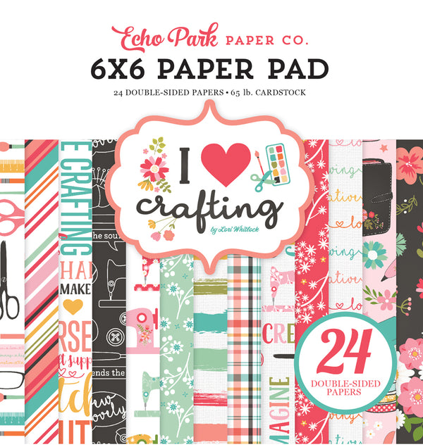 Echo Park Paper I Heart Crafting 6 x 6 Paper Pad