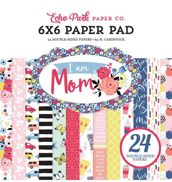 "Echo Park Paper I am Mom 6"" x 6"" Paper Pad Cover"