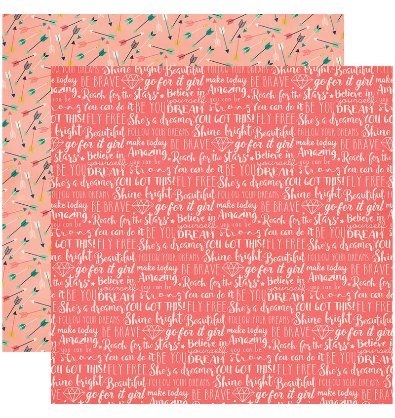 "Echo Park Paper Just Be You Collection Kit, 12"" x 12"" You Can Do It Double-Sided Cardstock Patterned Paper"