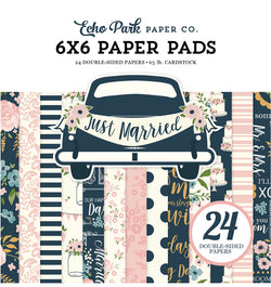 "Echo Park Paper Just Married 6""x 6"" Paper Pad Cover"