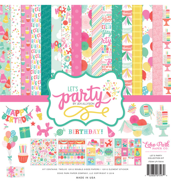 Echo Park Paper, Let's Party Collection Kit