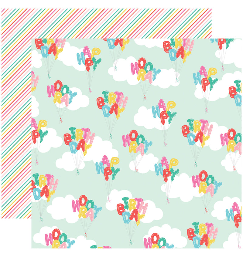 Echo Park Paper Let's Party 6 x 6 Paper Pad, Happy Birthday Paper Design