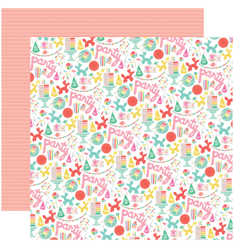 Echo Park Paper Let's Party 6 x 6 Paper Pad, Party Time Paper Design