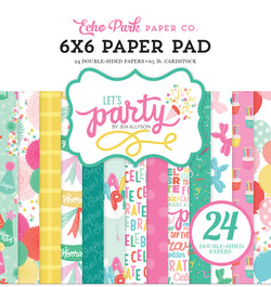 Echo Park Paper Let's Party 6 x 6 Paper Pad 24pcs
